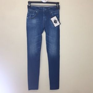 Jean look and design stretchy leggings